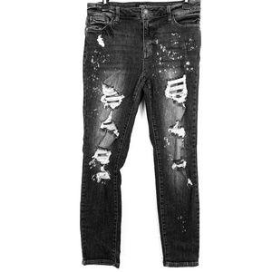 JUDY BLUE BOYFRIEND Black Wash Hi Rise Jeans 7 /28